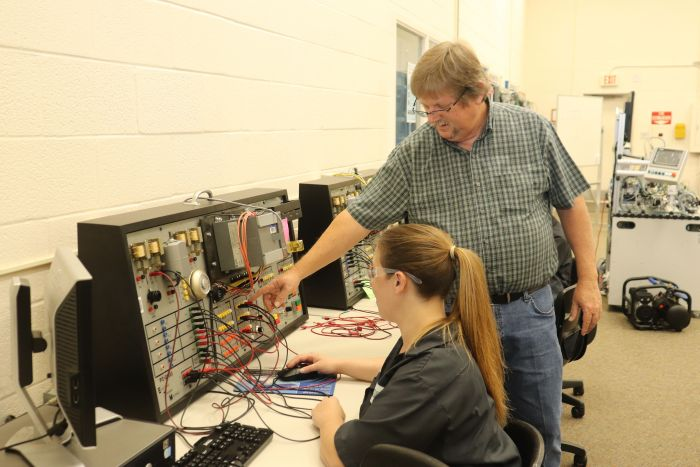 Marty Gooden assisting NETC Student